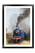 Caledonian Locomotive, Framed Mounted Print