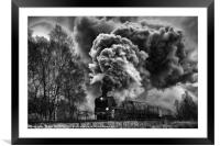 Volcano on the move, Framed Mounted Print