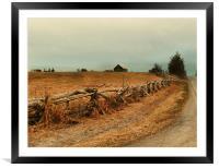 Rambling fenceline, Framed Mounted Print