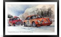 Rallye Monte Carlo 1967, Framed Mounted Print