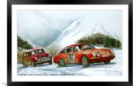 A moment in 1967 The Monte Carlo RAlly, Framed Mounted Print