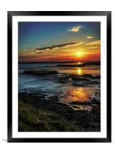 Marsh Sunset, Framed Mounted Print