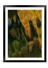 Agua Art , Framed Mounted Print