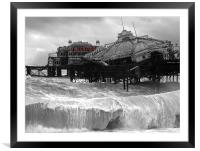 West Pier collapse, Framed Mounted Print
