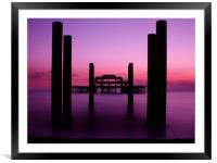 West Pier sunset 2, Framed Mounted Print