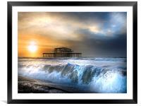 Solstice storm, Framed Mounted Print
