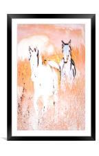 Running Free, Framed Mounted Print