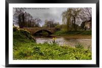 The Bridge At Sinnington, Framed Mounted Print