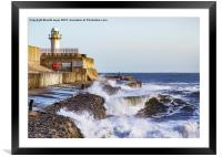 South Gare Lighthouse, Framed Mounted Print