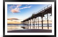 Saltburn in the afternoon light , Framed Mounted Print