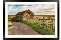 Old Barn Staithes., Framed Mounted Print