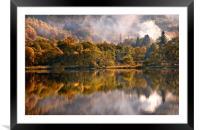 Playing Mirror. Loch Achray. Scotland, Framed Mounted Print