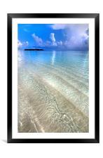 Crystal Water of the Ocean, Framed Mounted Print