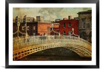 Irish Venice. Streets of Dublin. Painting Collecti, Framed Mounted Print