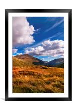 Sunny Day at Rest and Be Thankful. Scotland, Framed Mounted Print