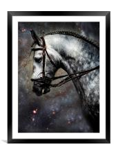 The Horse Among the Stars, Framed Mounted Print