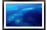Maldivian Reefs. Aerial View , Framed Mounted Print