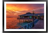 Fireworks of Colors. Maldives , Framed Mounted Print
