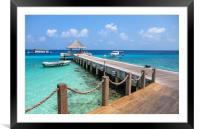 Pier Into Blue, Framed Mounted Print