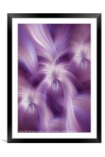 Violet Purple Abstract. Concept Relaxing Mind, Framed Mounted Print