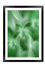 Mint Green colored abstract. Concept Healing Nature, Framed Mounted Print