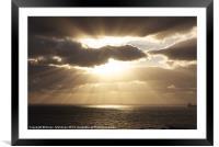 Sunrise over the Atlantic Ocean, Framed Mounted Print