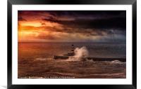 Poseidons Wrath, Framed Mounted Print