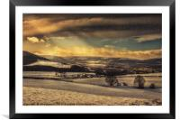 Winterscape, Framed Mounted Print