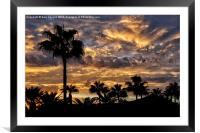 Fuerteventura Sunset, Framed Mounted Print