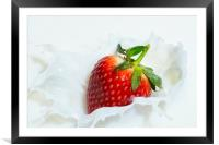 Strawberries and Cream, Framed Mounted Print