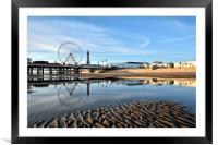 Golden Light On Blackpool, Framed Mounted Print