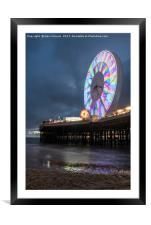 Big Wheel Blackpool, Framed Mounted Print