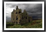 Dunskey castle, Framed Mounted Print