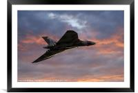 Avro Vulcan Delta Winged Bomber, Framed Mounted Print