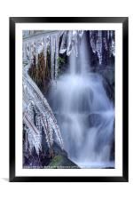 Waterfall and Ice, Framed Mounted Print