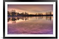 Winter Sunset Color, Framed Mounted Print