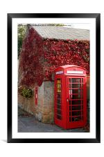 Red Telephone Box in Nottinghamshire, Framed Mounted Print