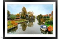 Edam Waterway In Autumn , Framed Mounted Print