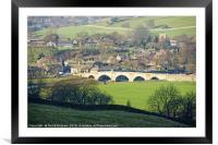 Burnsall Village and Bridge, Framed Mounted Print