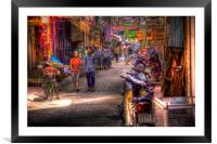 The Street., Framed Mounted Print