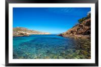 Cala Carbó on the beautiful island of Mallorca, Framed Mounted Print