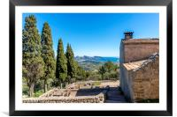 View from the Puig de Maria, Framed Mounted Print