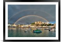 Double Rainbow Torquay, Framed Mounted Print