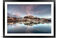 Pink Clouds over Torquay Harbour, Framed Mounted Print