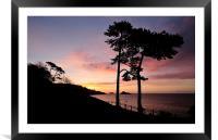 Meadfoot Beach Sunrise, Framed Mounted Print