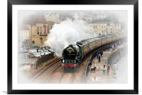 Steam train Tornado pulling the Cornishman, Framed Mounted Print