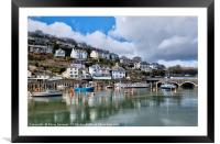 The beautiful Looe River on a peaceful morning, Framed Mounted Print