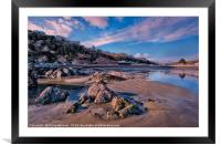 Millendreath Beach Looe in South East Cornwall, Framed Mounted Print