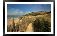 Along the coast path by the River Camel near Rock , Framed Mounted Print