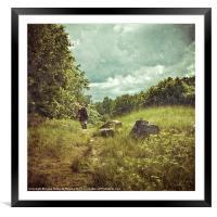 The wanderer, Framed Mounted Print